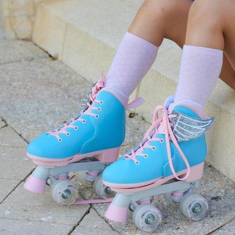 Blue roller skates for kids