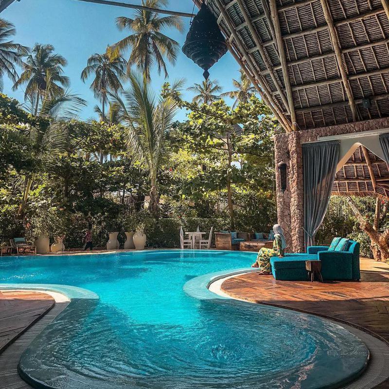 Tiki Dream Pool in Zanzibar