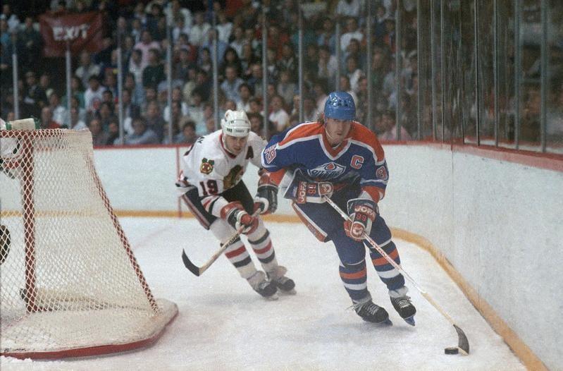Edmonton Oilers center Wayne Gretzky