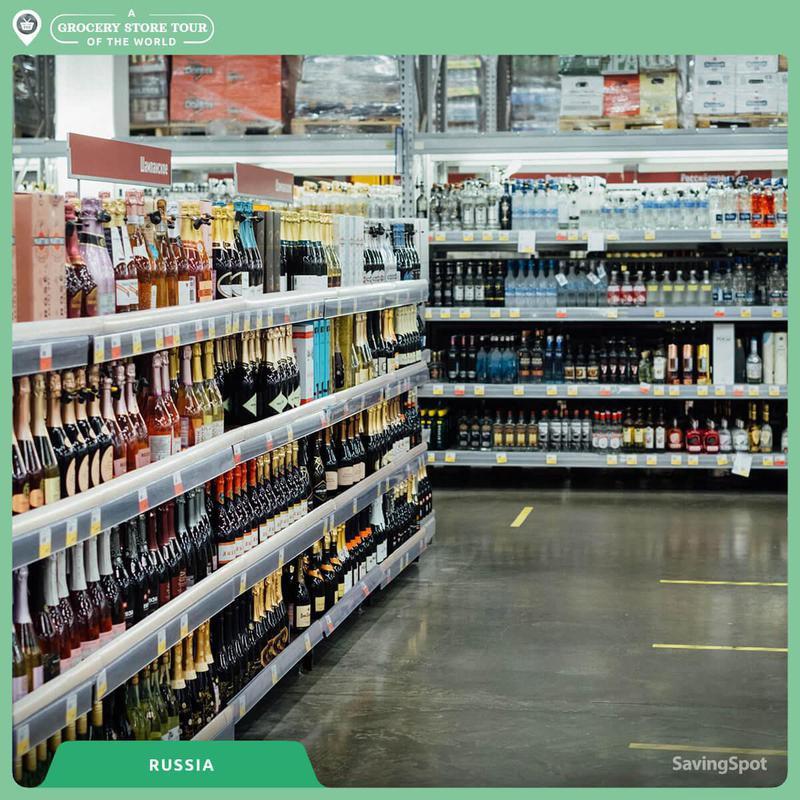 Russian alcohol aisle