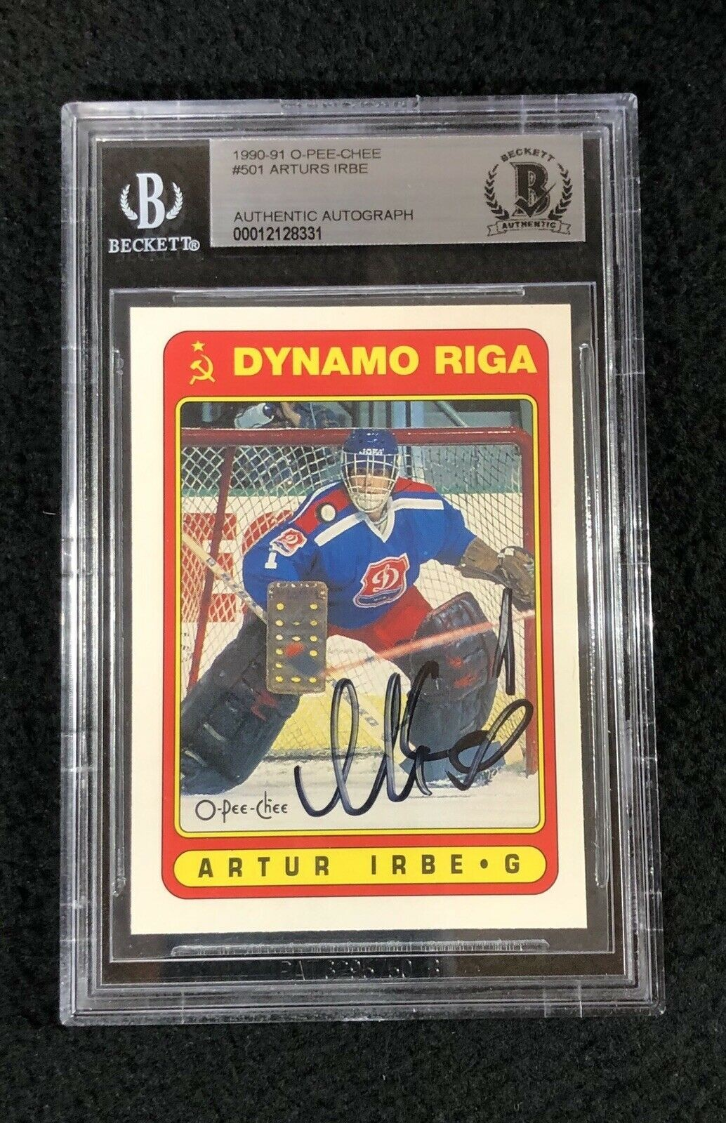 Arturs Irbe signed rookie card
