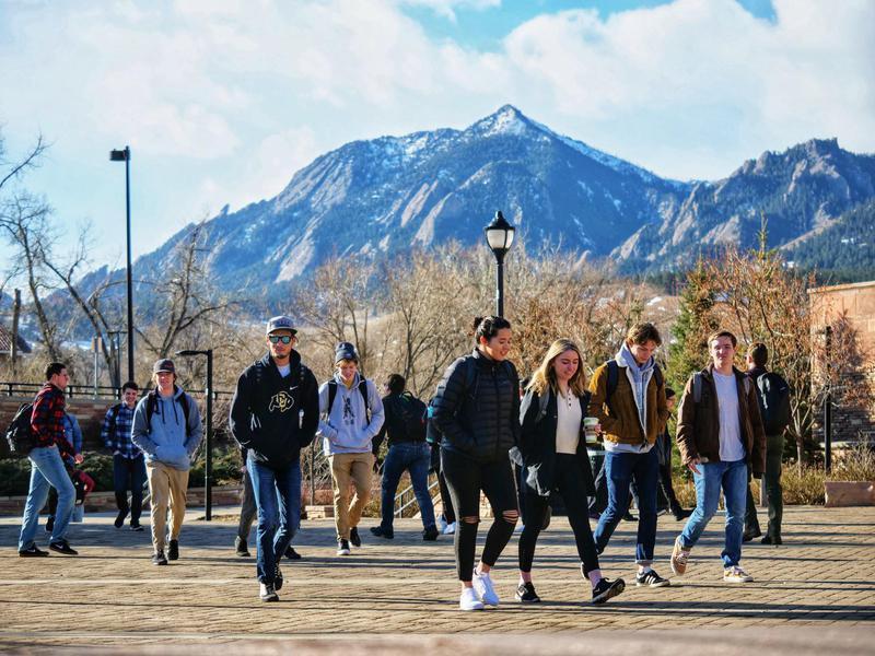 Students at University of Colorado Boulder