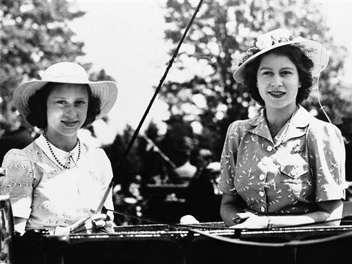 Princess Elizabeth and Princess Margaret in 1944