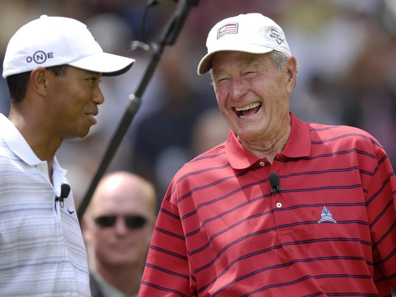 Tiger Woods and George H.W. Bush