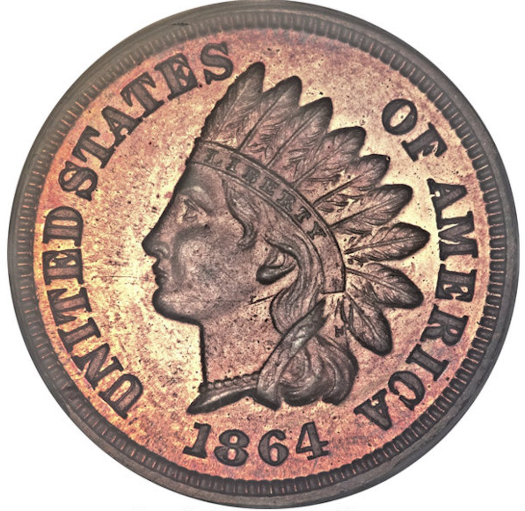 1864 Indian Head With 'L'