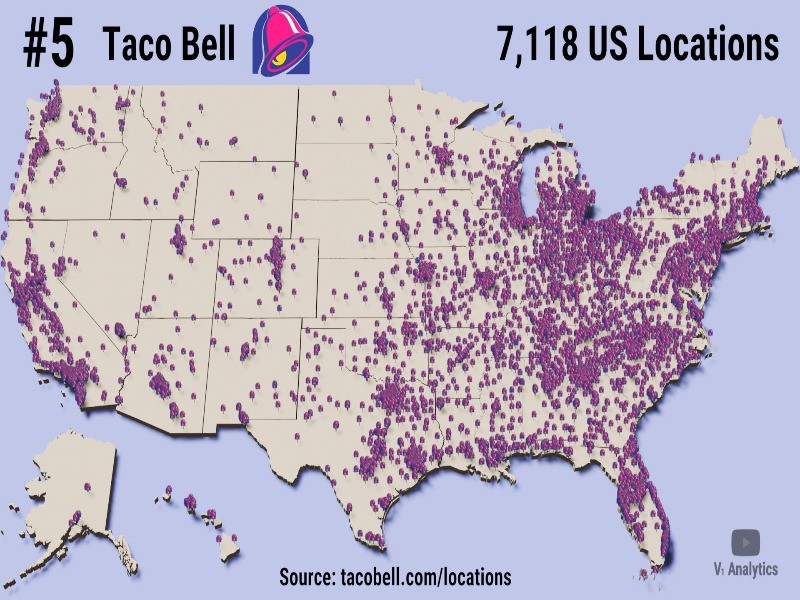 Map of Taco Bells in the U.S.