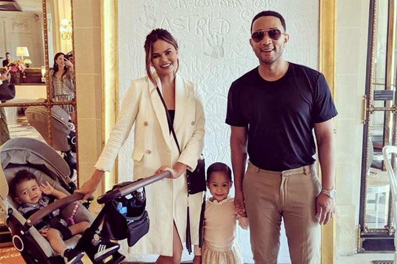 Chrissy Teigen, John Legend and family