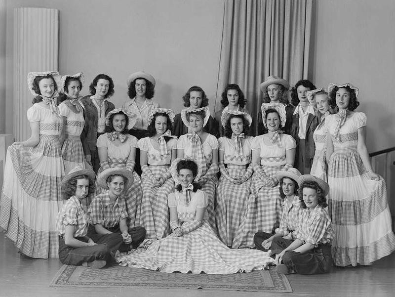Portait of Young Ladies in Gingham