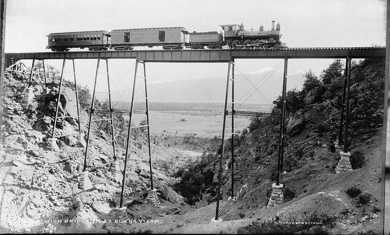 High bridge near Buena Vista circa 1880-1897