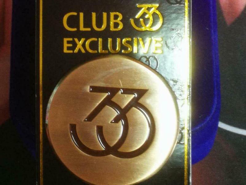 Rare Shanghai Disneyland Club 33 Commemorative Pin