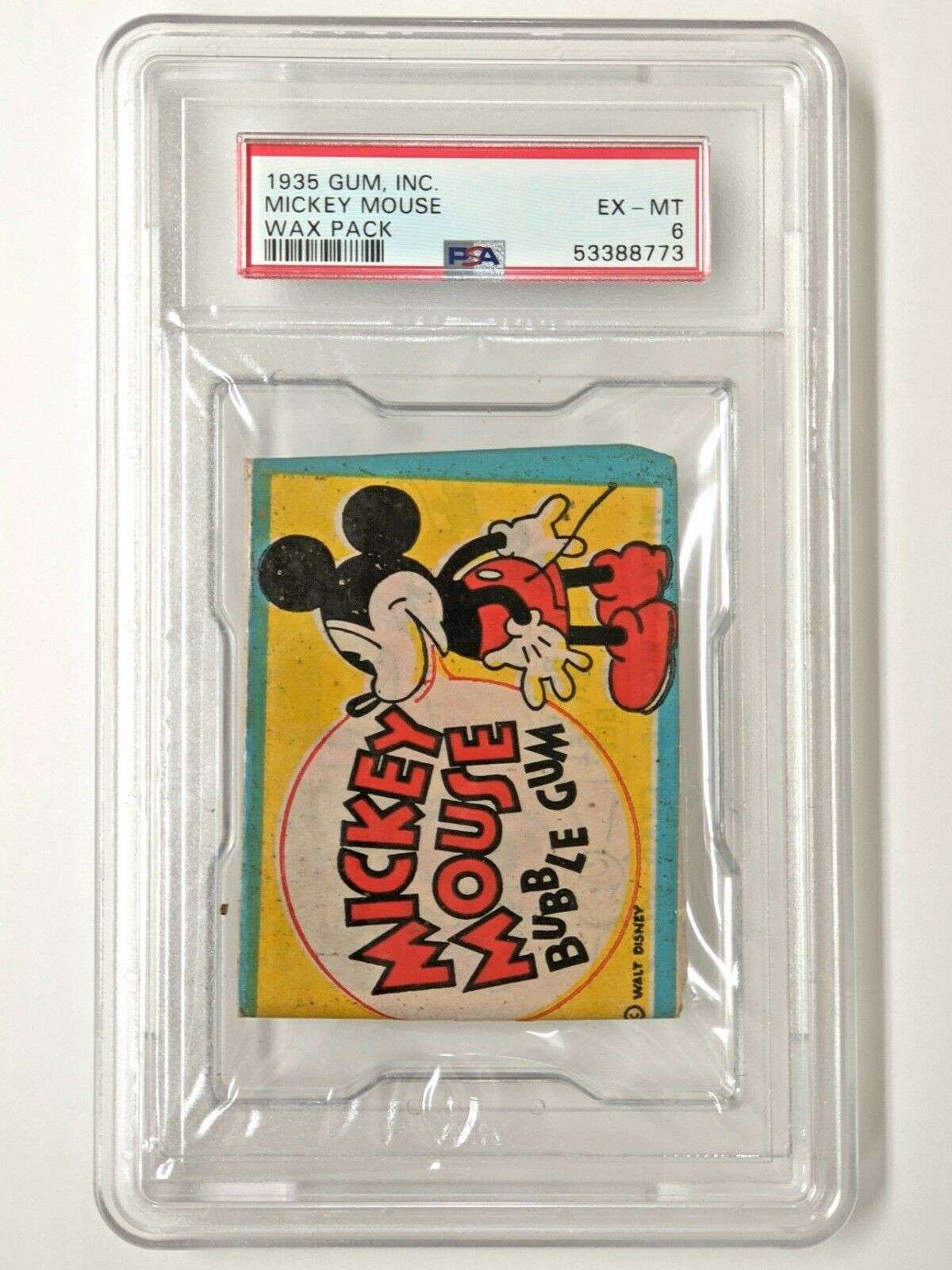 Mickey Mouse Gum Inc. 1935 wax pack