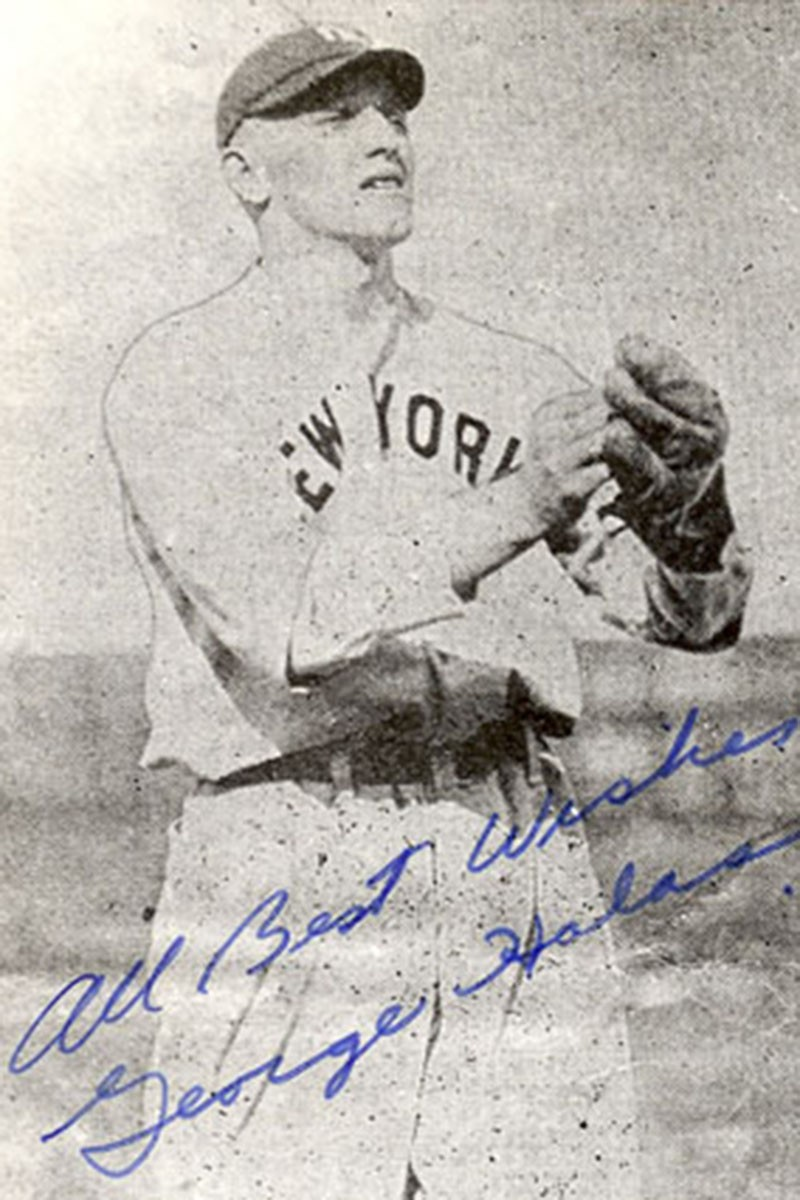George Halas playing baseball in 1919