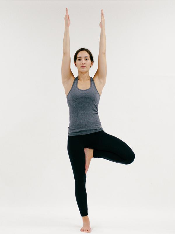 Tree Pose - 10 Minutes of Yoga to Jumpstart Your Work Day  IMAGES, GIF, ANIMATED GIF, WALLPAPER, STICKER FOR WHATSAPP & FACEBOOK