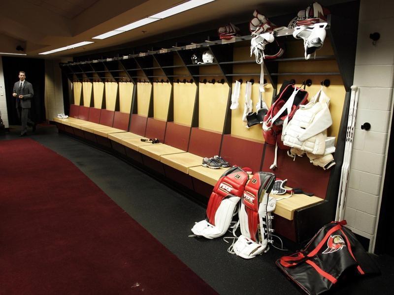 Ottawa Senators dressing room