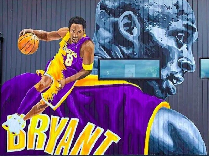 Kobe Bryant mural in Toyokawa, Japan