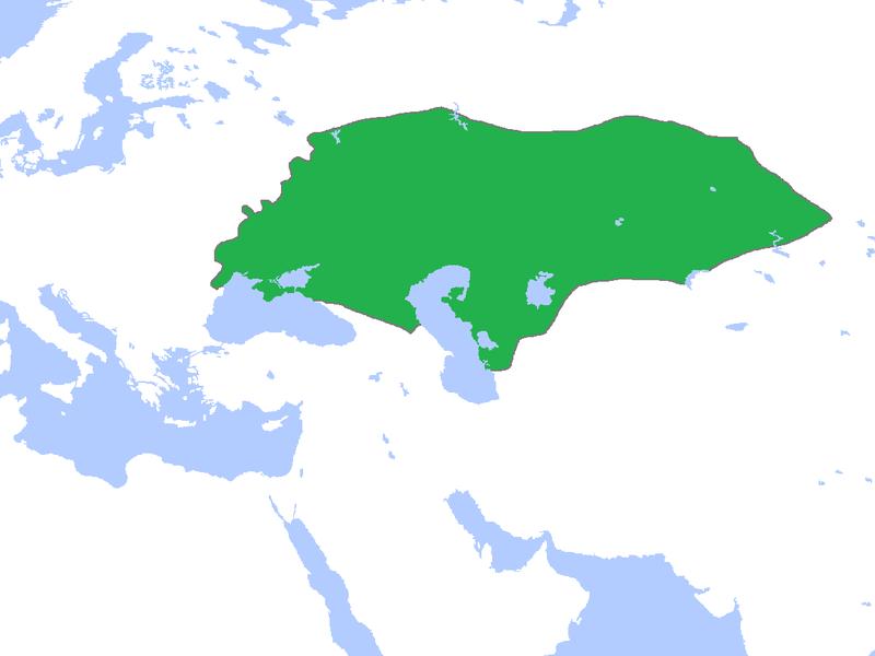 Golden Horde Khanate map