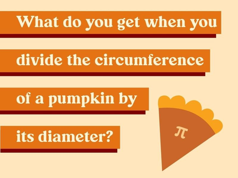 What decimal do you get when you divide the circumference of a pumpkin by its diameter?