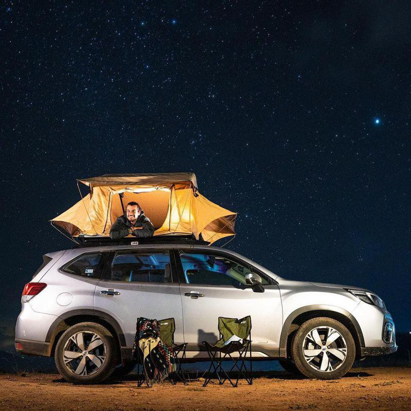 Christian Byfield camping under the stars