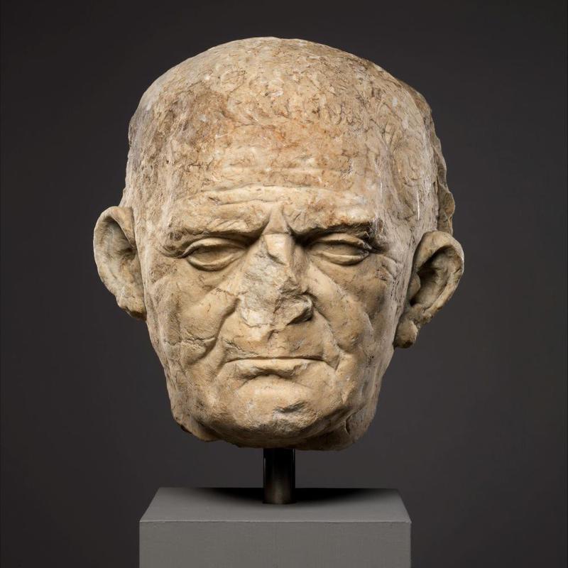 Roman statue head