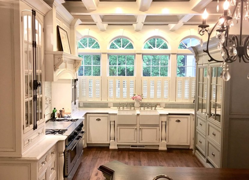 Arched kitchen windows