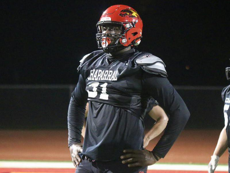 Chaparral High defensive tackle Anthony Lucas