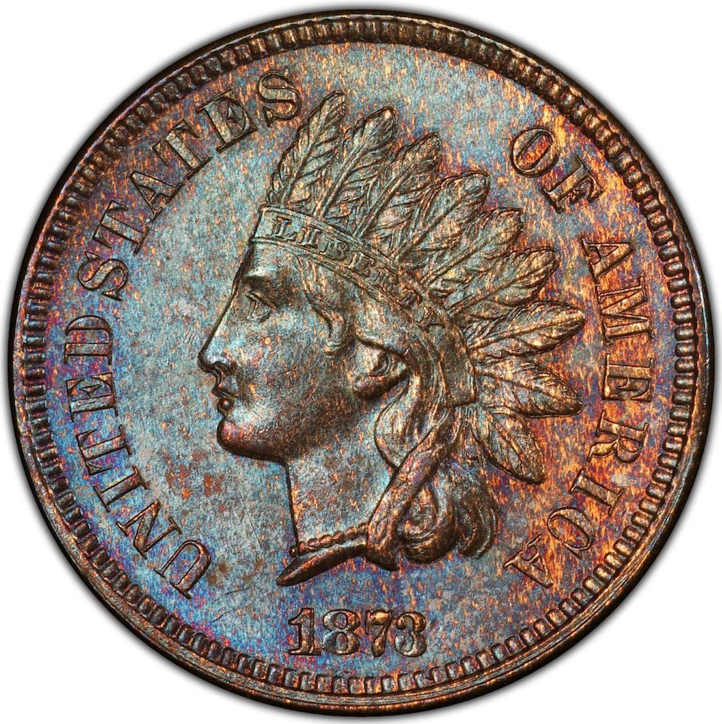 1873 Doubled 'Closed 3' Indian Head