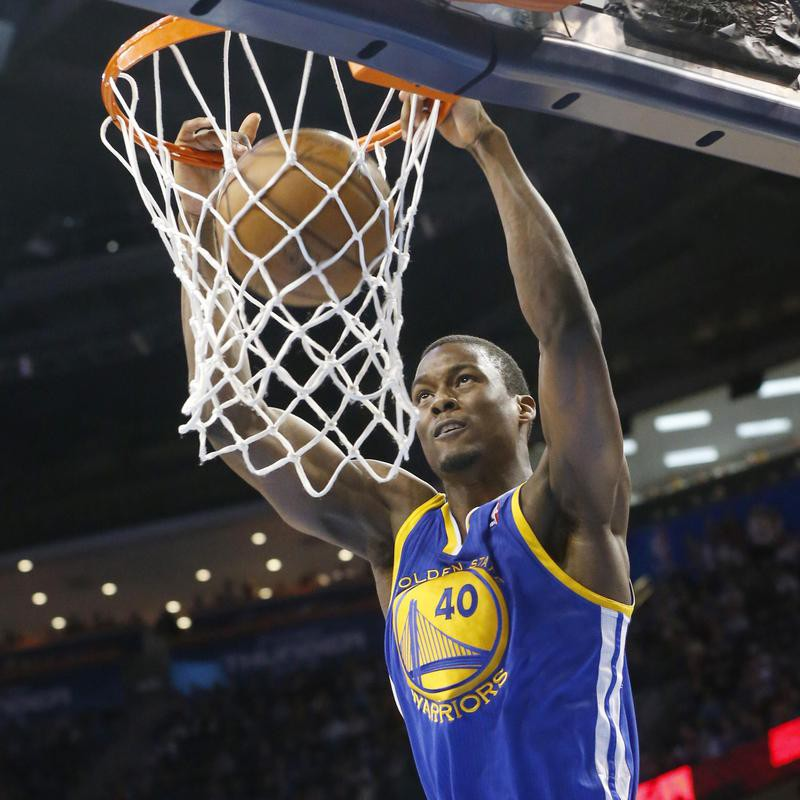 Harrison Barnes goes up for a dunk