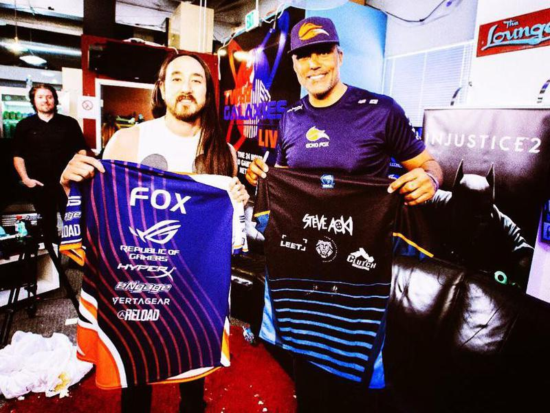 Steve Aoki and Rick Fox