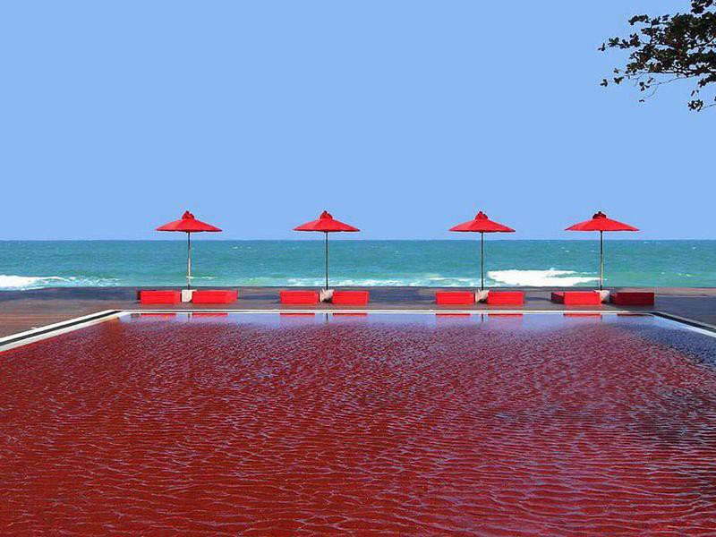 The Library Resort red pool, Koh Samui, Thailand