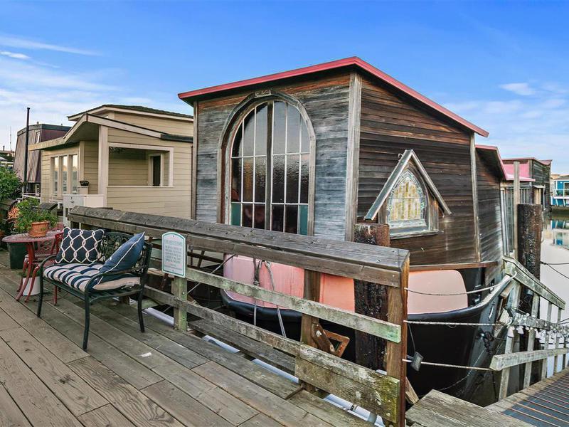 Shel Silverstein's houseboat in Waldo Point