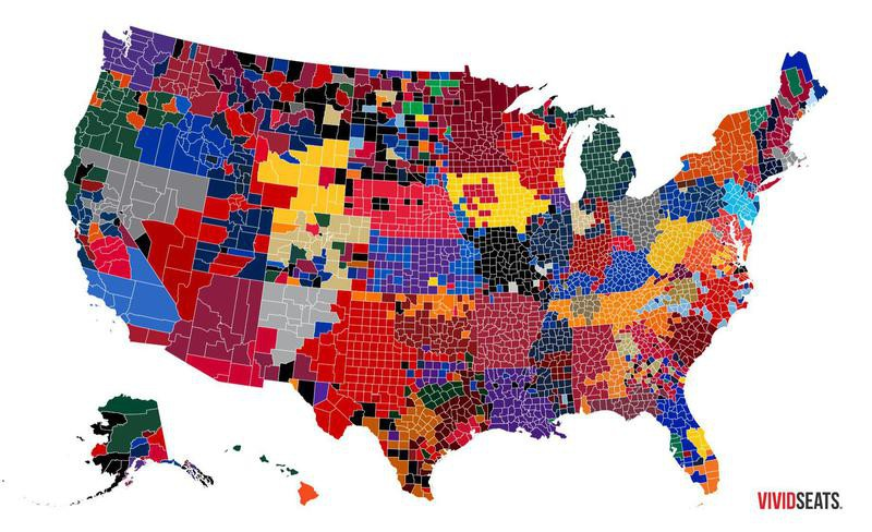 College basketball love map