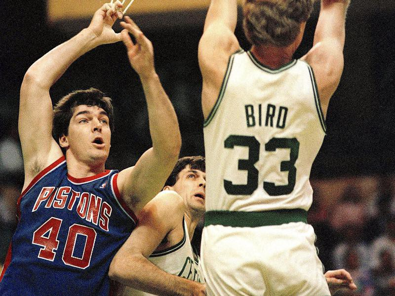Detroit Pistons center Bill Laimbeer