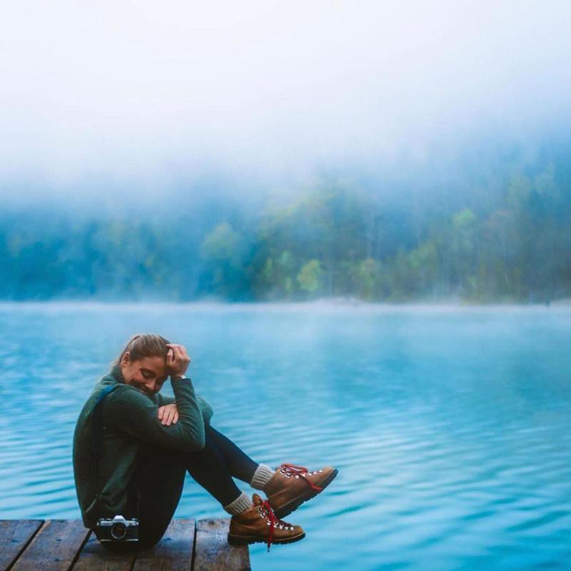 Carmen Huter smiling at a lake