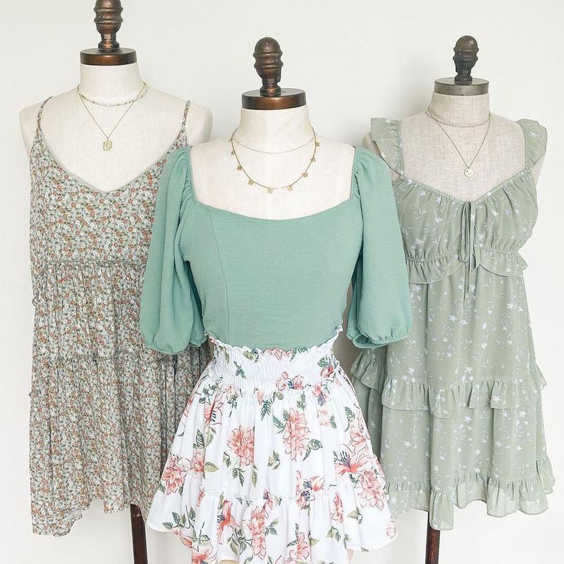 Green ash dresses