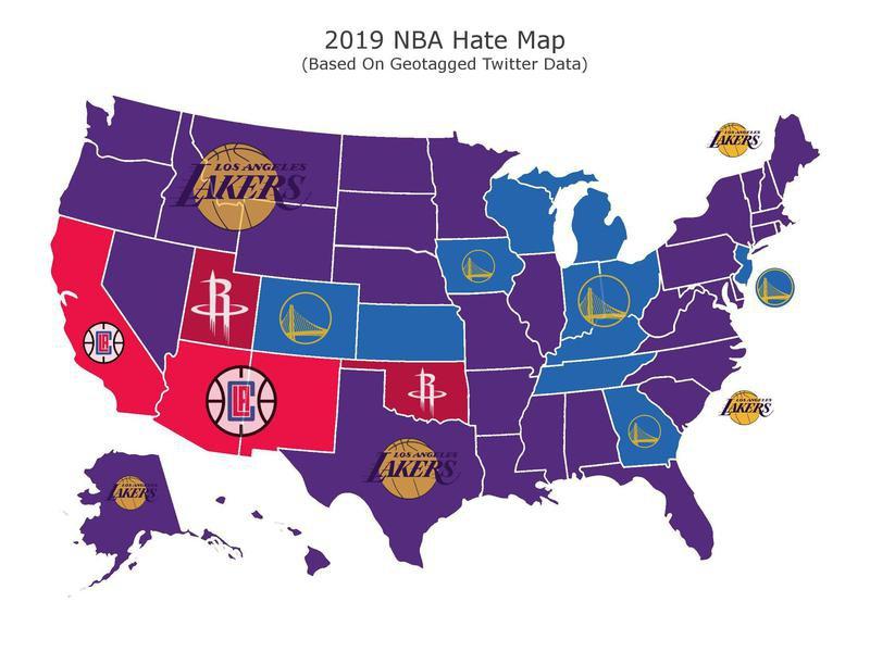 NBA hate map