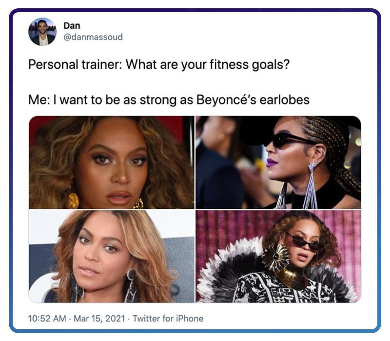 Beyoncé has strong earlobes