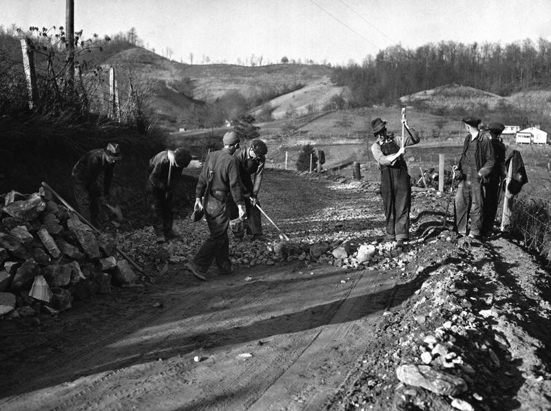Workers employed under the Public Works Administration and New Deal