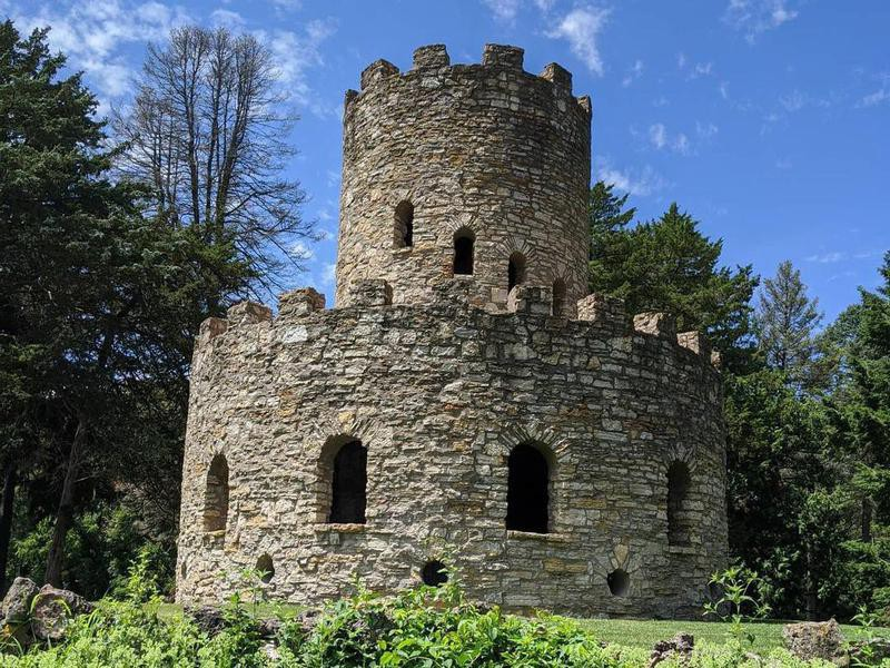 Stone Tower at Eagle Point Park in Clinton, Iowa