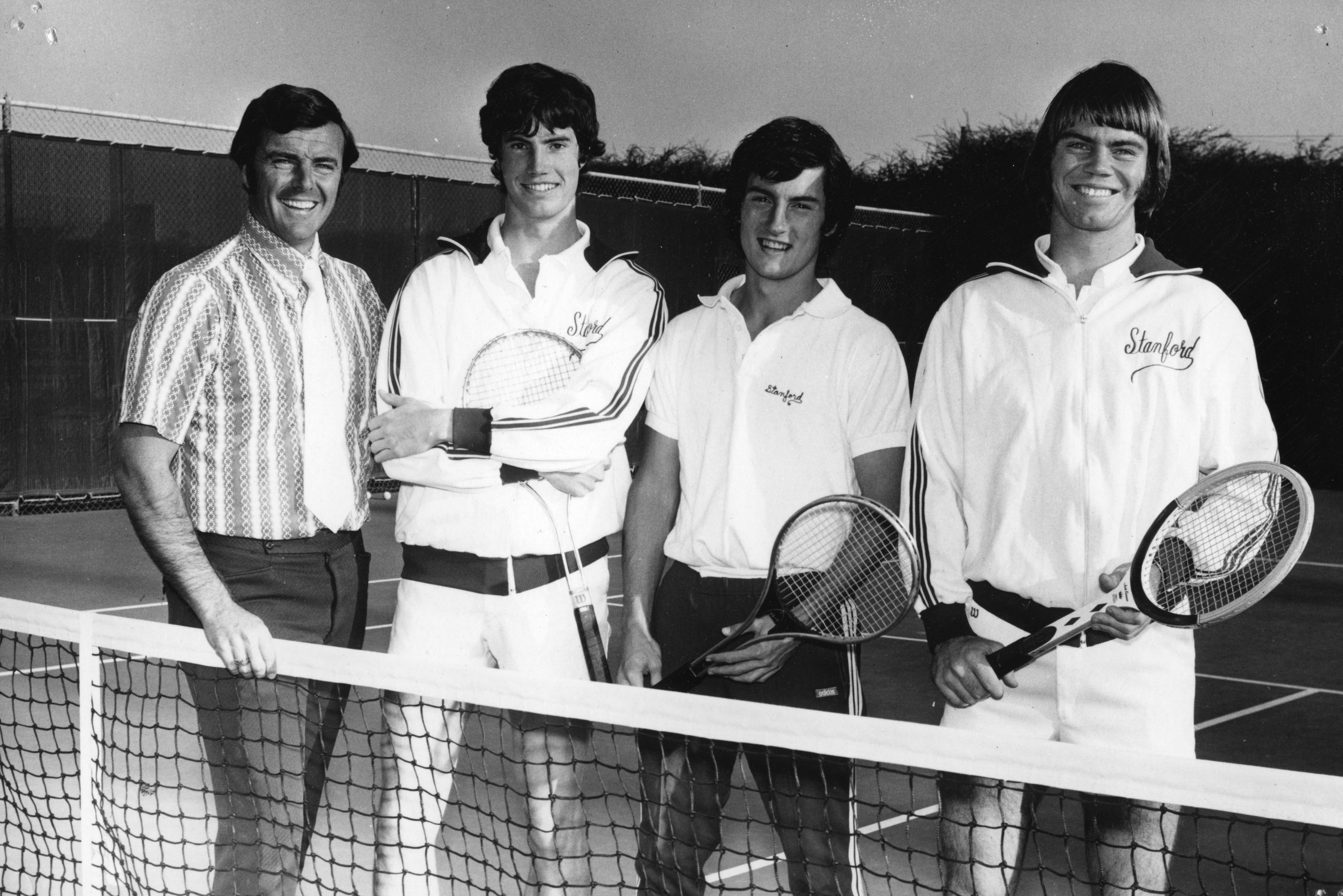 Dick Gould and 1973 Stanford tennis players