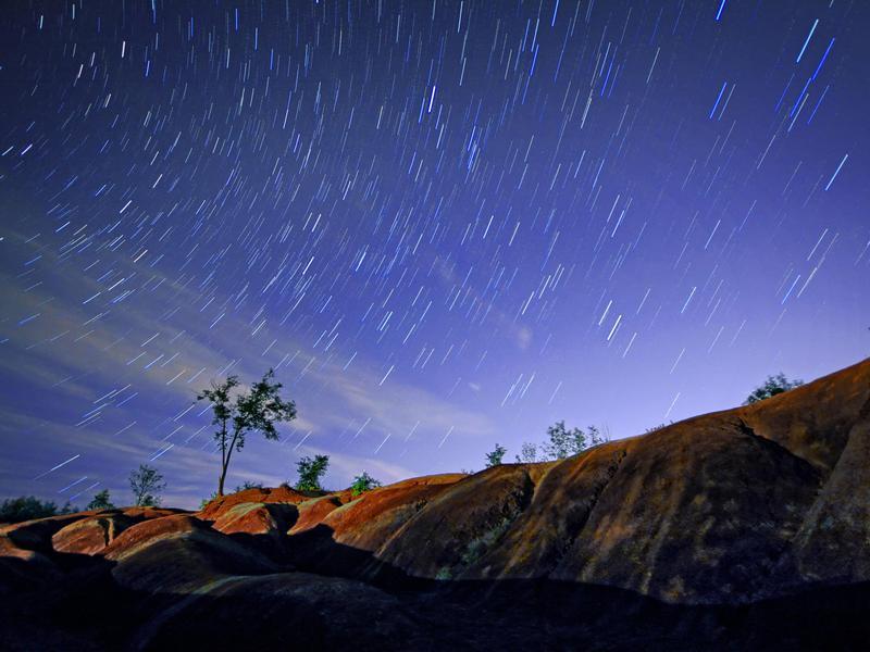 Badlands at Night