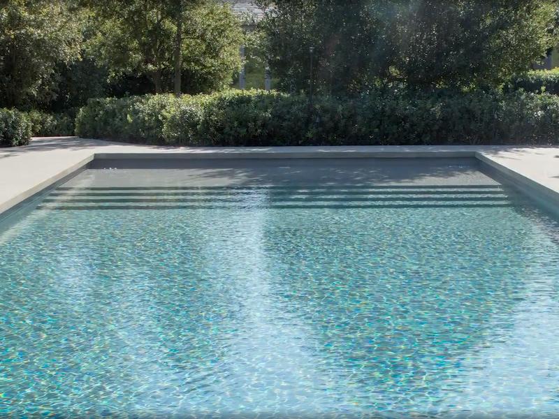 Kim and Kanye's pool