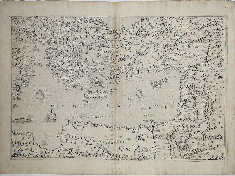 1570 map of Eastern Med
