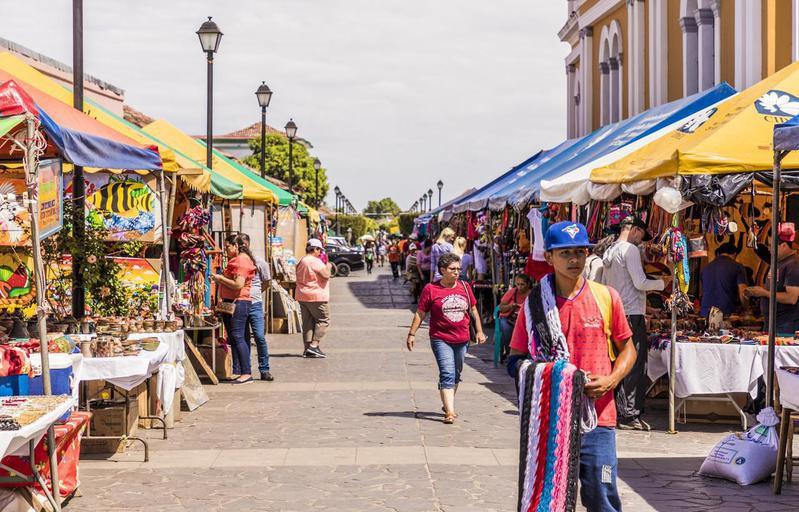 Street market in Nicaragua