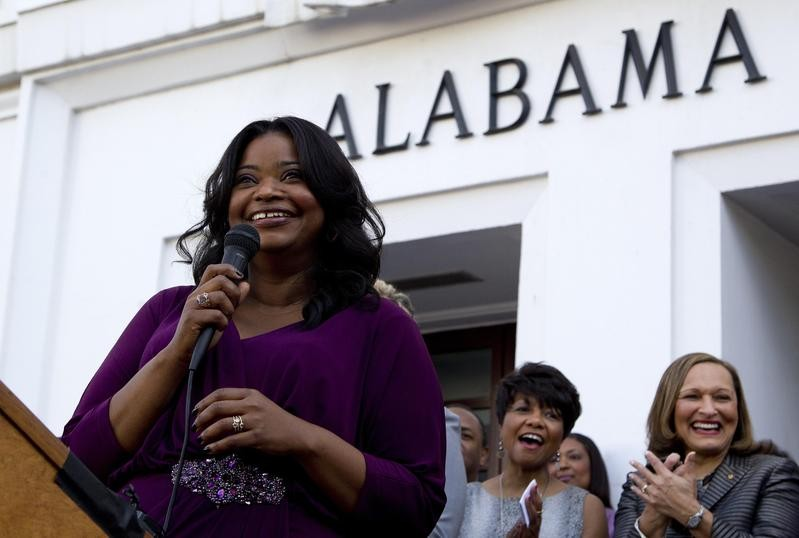 Octavia Spencer speaks at Alabama Statehouse in Montgomery