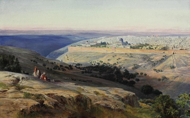 """Jerusalem from the Mount of Olives"""