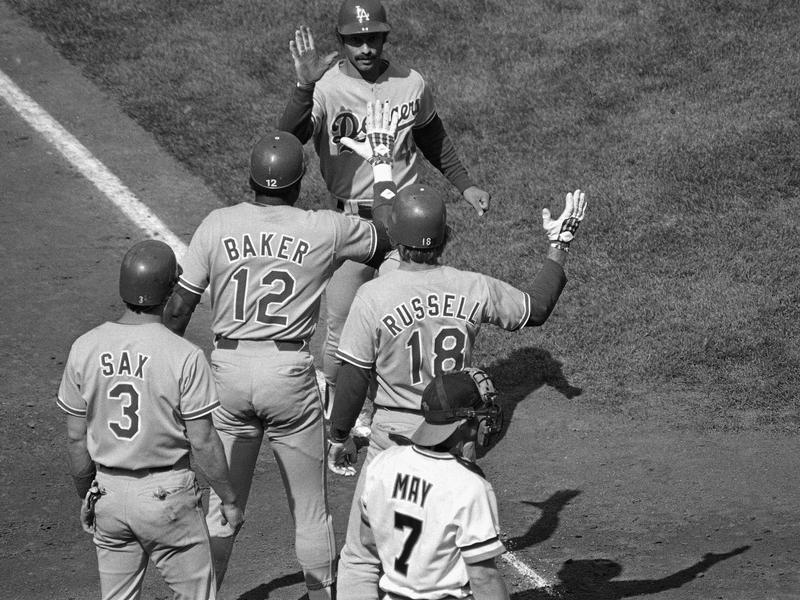 Ken Landreaux and Dodgers teammates