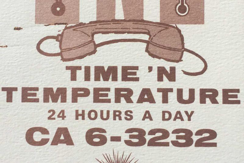 Calling Time and Temperature for Information