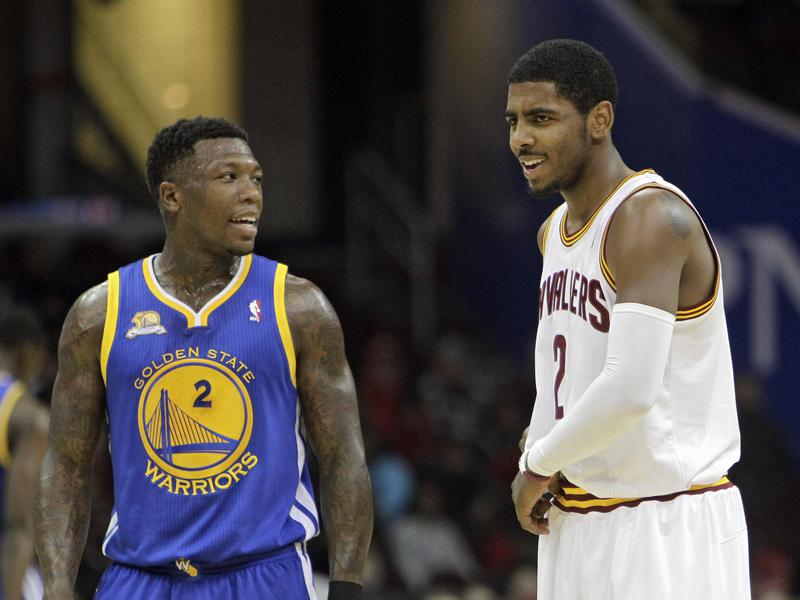 Nate Robinson and Kyrie Irving