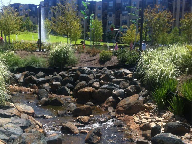 Historic Fourth Ward Park splash pad