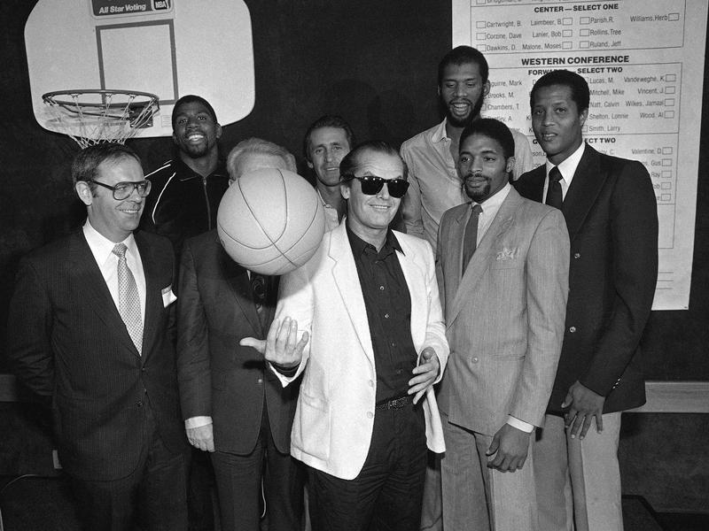 Jack Nicholson and 1982 Los Angeles Lakers